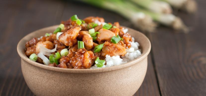 Kuřecí maso ve sladko-kyselé omáčce s rýží
